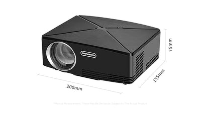 Mini Home Theater HD LED Projector dimensions