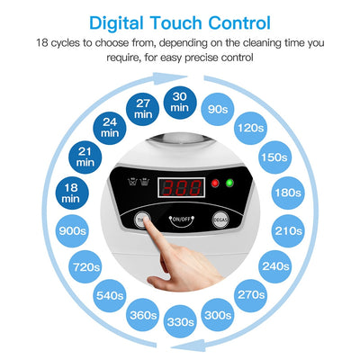 Ultrasonic Jewelry Parts Cleaner digital touch control