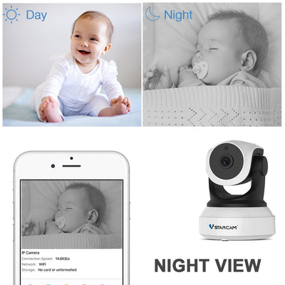 Smart Camera with Motion Sensor WiFi Baby Monitor night view
