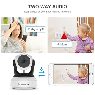 Smart Camera with Motion Sensor WiFi Baby Monitor audio