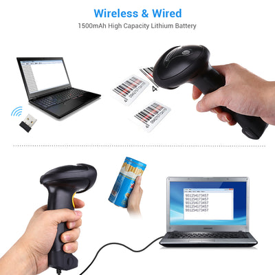 Handheld Wireless Barcode Scanner Reader wireless & wired