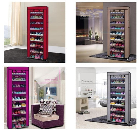 Shoe Rack Storage Cabinet Organizer different colors