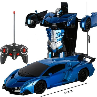 Transformer 2 in 1 RC Car Toy blue dimension