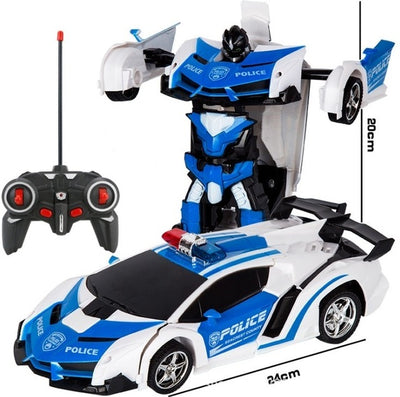 Transformer 2 in 1 RC Car Toy blue