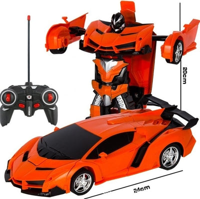 Transformer 2 in 1 RC Car Toy orange size