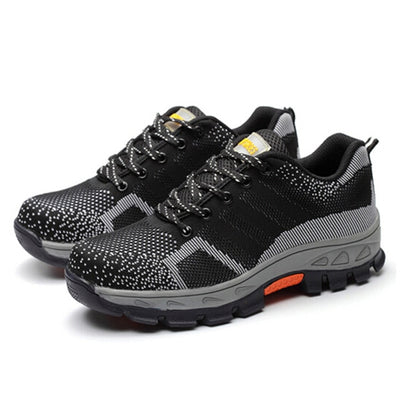 Indestructible Safety Steel Toe Shoes black front