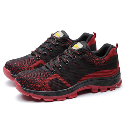 Indestructible Safety Steel Toe Shoes red
