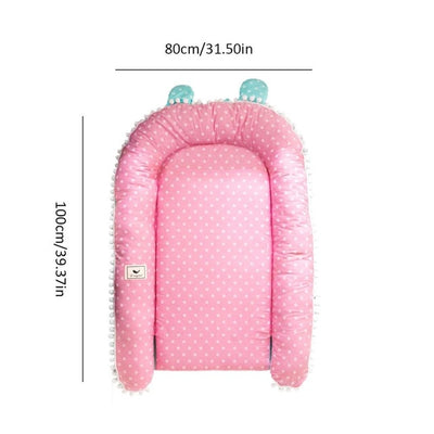 Portable Travel Baby Lounger Bumper dimension