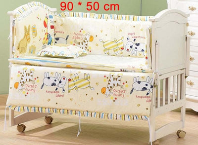 Cartoon Bed Baby Crib Bumpers yellow