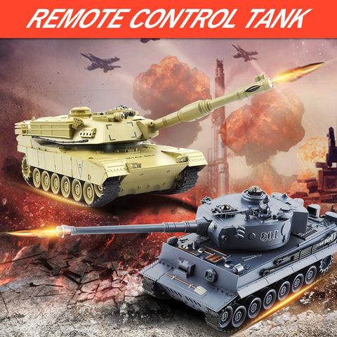 Remote Control Fighting Battle Tank gray and beige