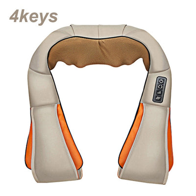 Infrared Back Neck Shoulder Massager beige 4 keys