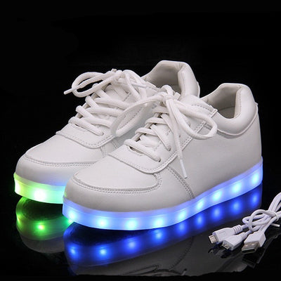 Glow Led Light Up Shoes green blue color