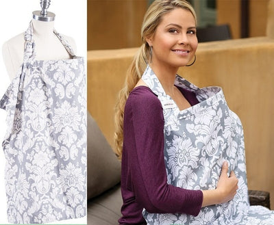 Breathable Nursing Cover gray