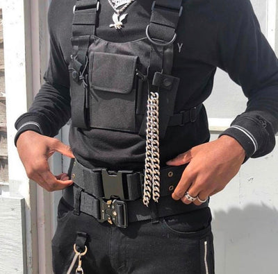 Tactical Military Chest Rig front view equip