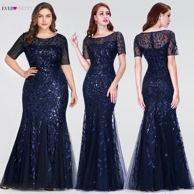 mermaid prom dresses blue