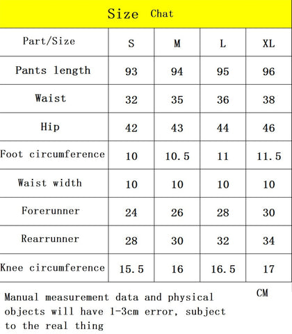 Best Yoga Legging Pants size chart 1