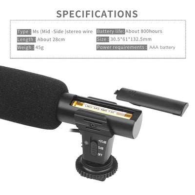Hi-tech Camera Microphone Excellent Quality specs details