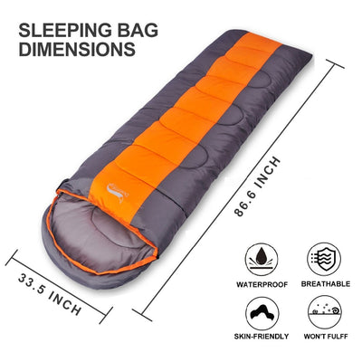 Waterproof Compact Sleeping Bag dimensions inches