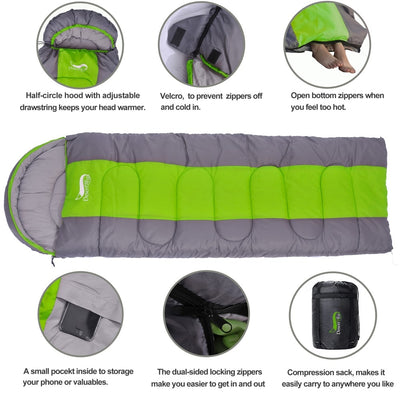 Waterproof Compact Sleeping Bag 6 features