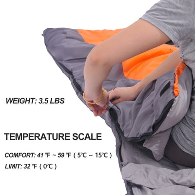 Waterproof Compact Sleeping Bag temperature scale