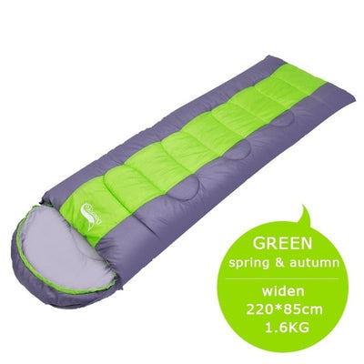 Waterproof Compact Sleeping Bag green with dimension