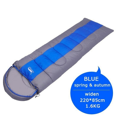 Waterproof Compact Sleeping Bag blue full view