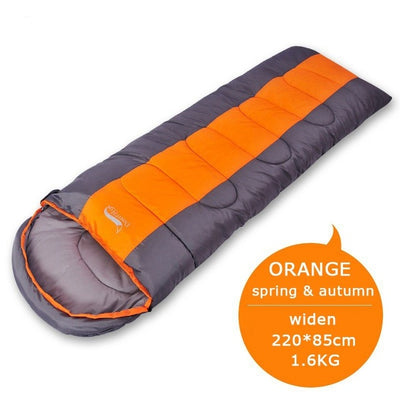Waterproof Compact Sleeping Bag orange full view