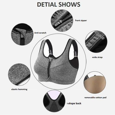 Best High Impact Padded Sports Bra detail features
