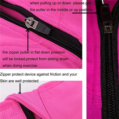 Best High Impact Padded Sports Bra zipper features