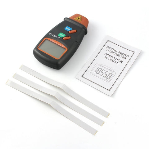 Digital Laser Photo Tachometer package view