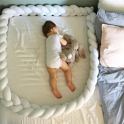 Knotted Braid Pillow Baby Crib Bumpers bed sleeping