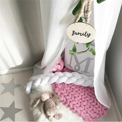 Knotted Braid Pillow Baby Crib Bumpers room decor