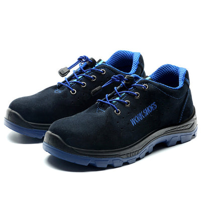 Indestructible Safety Steel Toe Shoes blue front