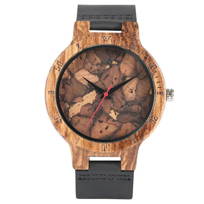 Bamboo Modern Soft Leather Wooden Watches camouflage
