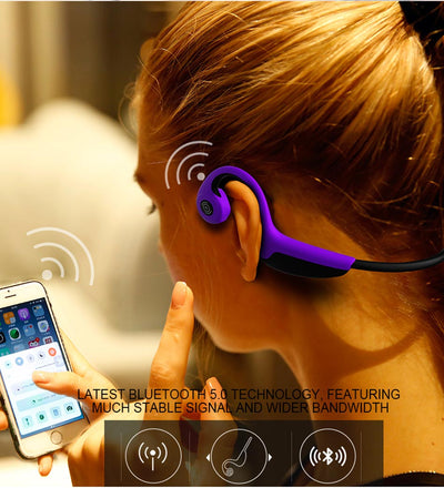 bone conduction headphones side view