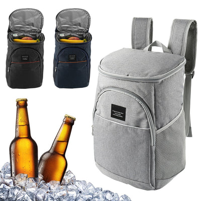 Thermal Storage Backpack Cooler white with beer