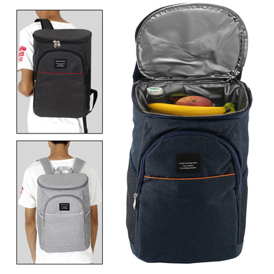 Thermal Storage Backpack Cooler  black and white samples