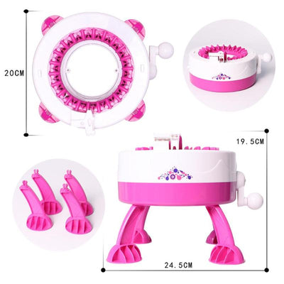 Plastic Needle Knitting Toy Machine dimension details