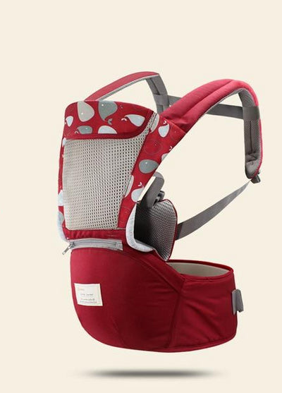 Hipseat Sling Front Baby Carrier dark red