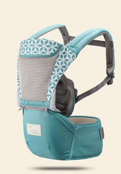 Hipseat Sling Front Baby Carrier light blue