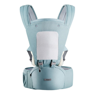 Hipseat Sling Front Baby Carrier pale blue