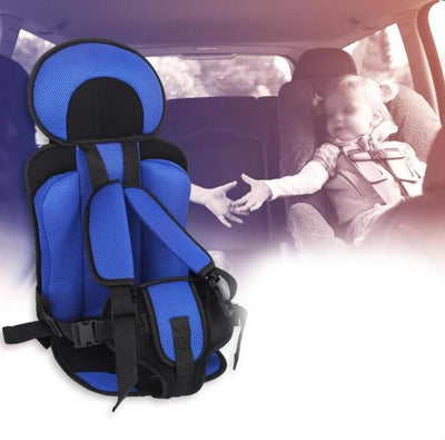 Portable Baby Car Booster Seat For Travel dark blue with children
