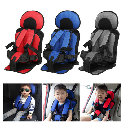 Portable Baby Car Booster Seat For Travel red blue gray