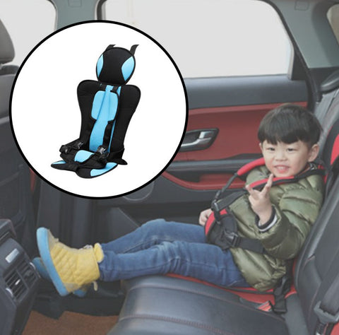 Portable Baby Car Booster Seat For Travel with kid blue color