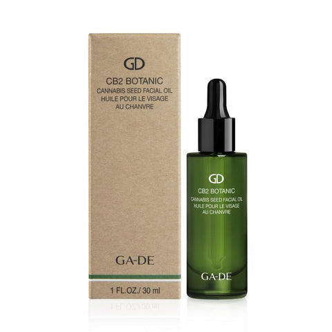 ga-de cb2 cannabis seed facial oil product image on white background