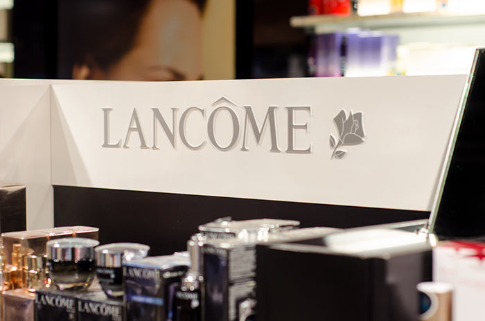 Lancome beauty counter with genifique products