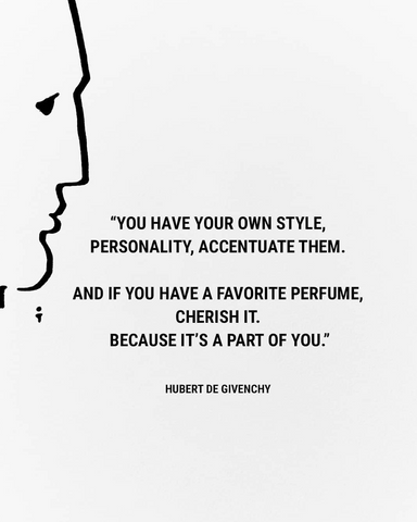 Black text on white background of Hubert Givenchy quote