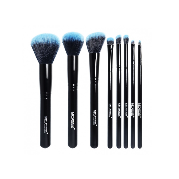 Mica Beauty Black / Blue 8 Piece Professional Brush Set - Featured Product