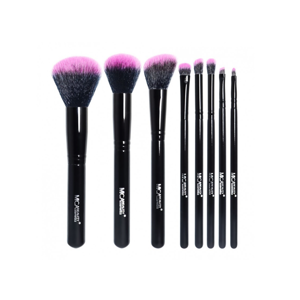 Mica Beauty Black / Hot Pink 8 Piece Professional Brush Set - Featured Product