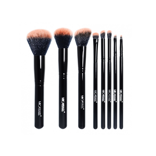 Mica Beauty Black / Peach 8 Piece Professional Brush Set - Featured Product